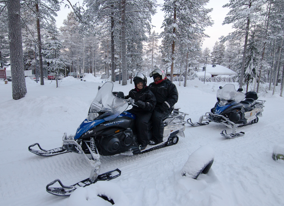 Ready for Snowmobiling in the arctic forest!