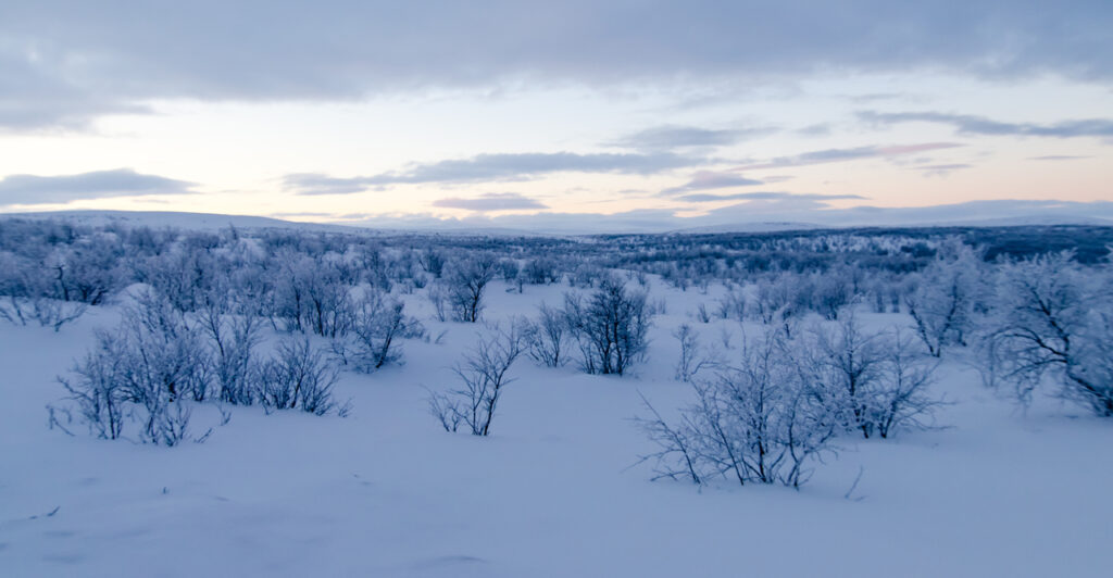 The untouched winter wonderland which can only be reached on foot