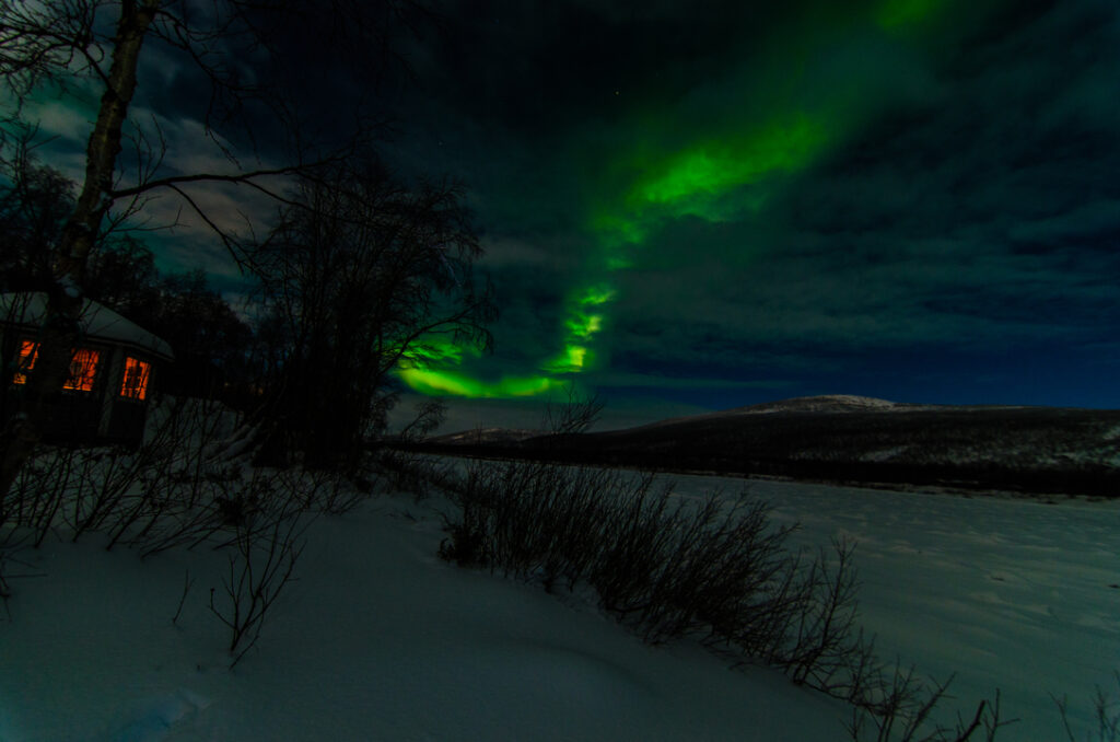 Watching Northern lights through the cloud cover