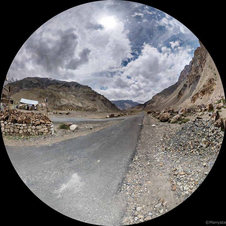 Behind the lens, somewhere on the road between the villages of Spiti