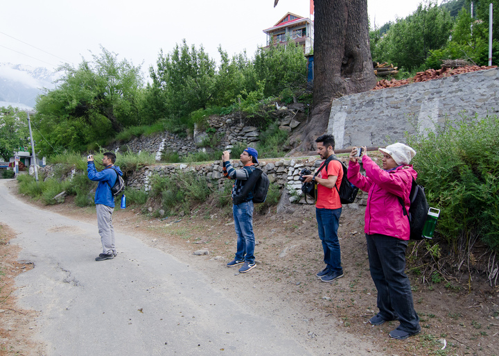 All too common occurrence in our photo tour. The fifth member of our group, obviously, decided to capture us instead of whatever we were all so intent on photographing!