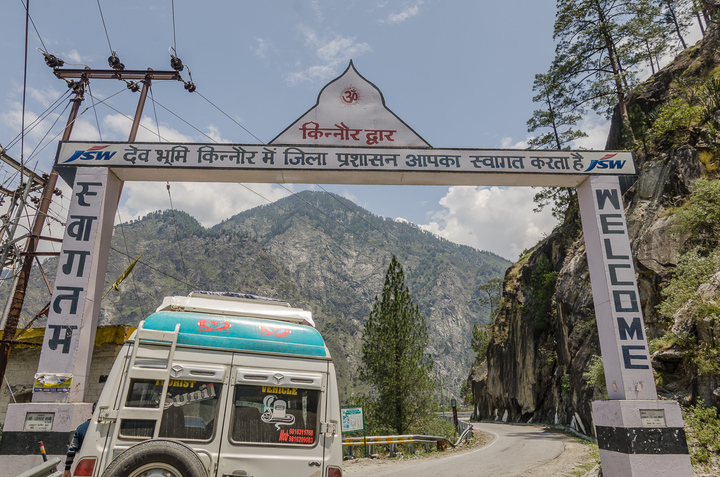 The welcome door announcing the official start of Kinnaur! A great photo-op point with amazing views of the valley