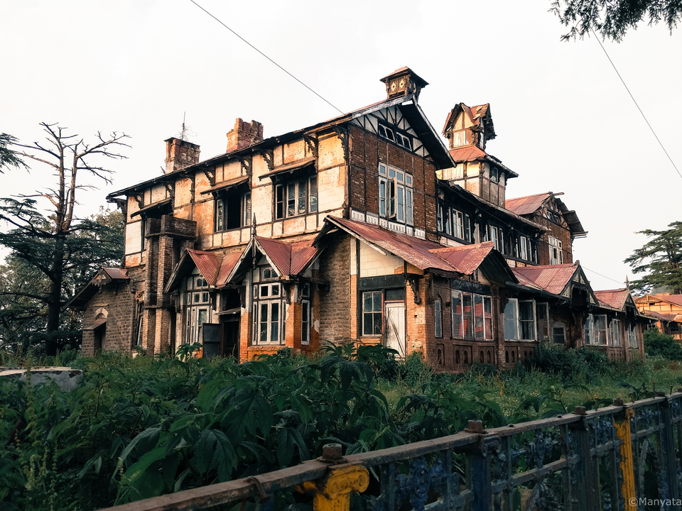The house of the Himachal languages and culture society as witnessed from the heritage walk of Shimla, now fallen in ruins. I hope they found a new building to keep the culture alive.