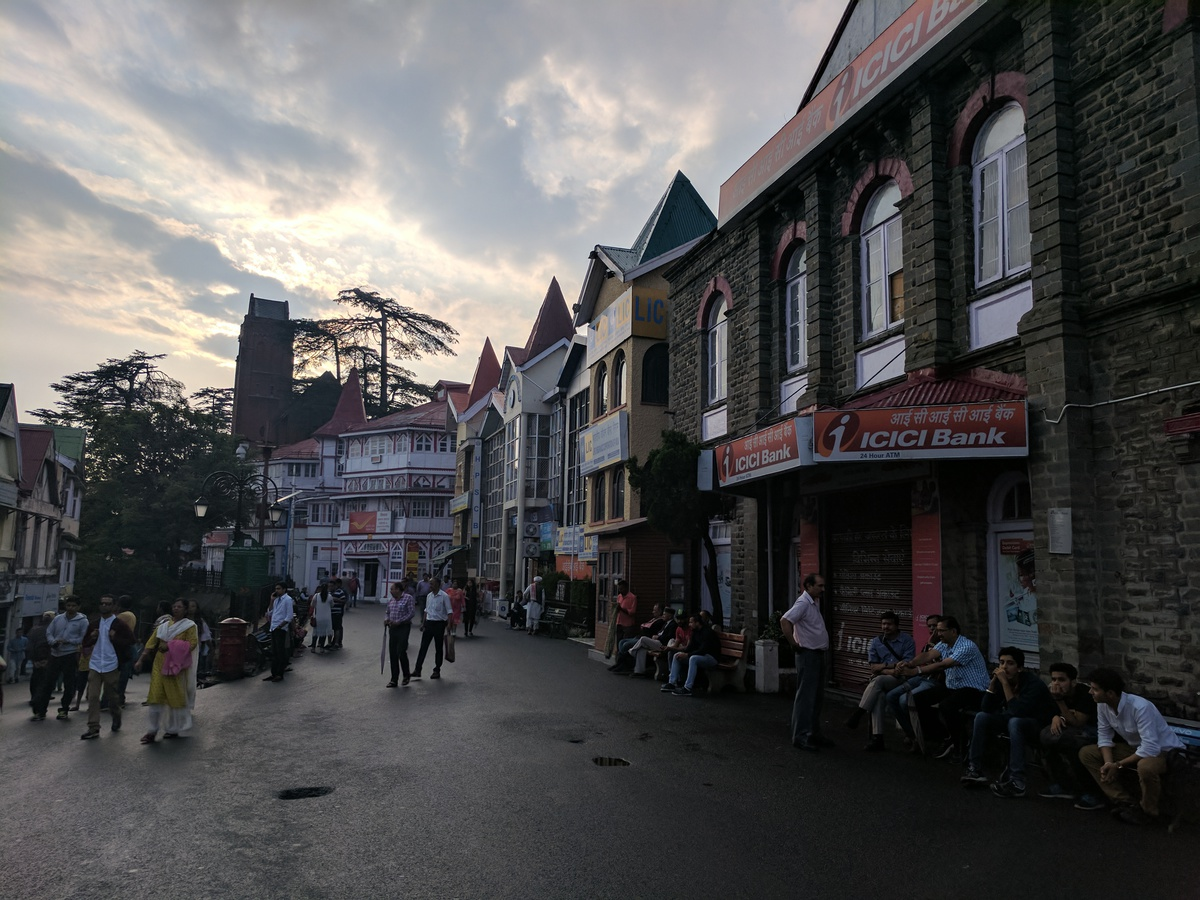The colorful old style buildings leading towards the old town. The buildings are beautiful, old and in need of repair but majestic in their bearing!